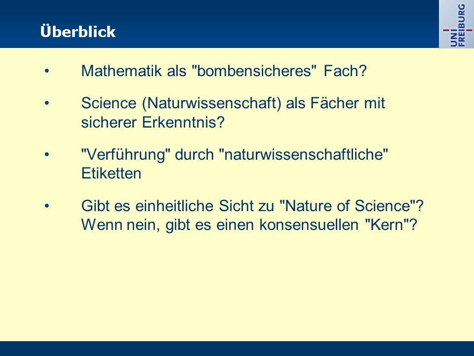 Mathematik als bombensicheres Fach