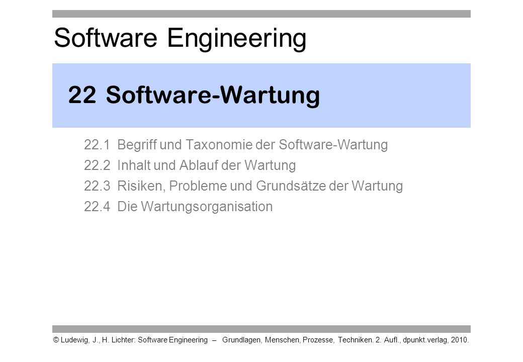22 Software-Wartung