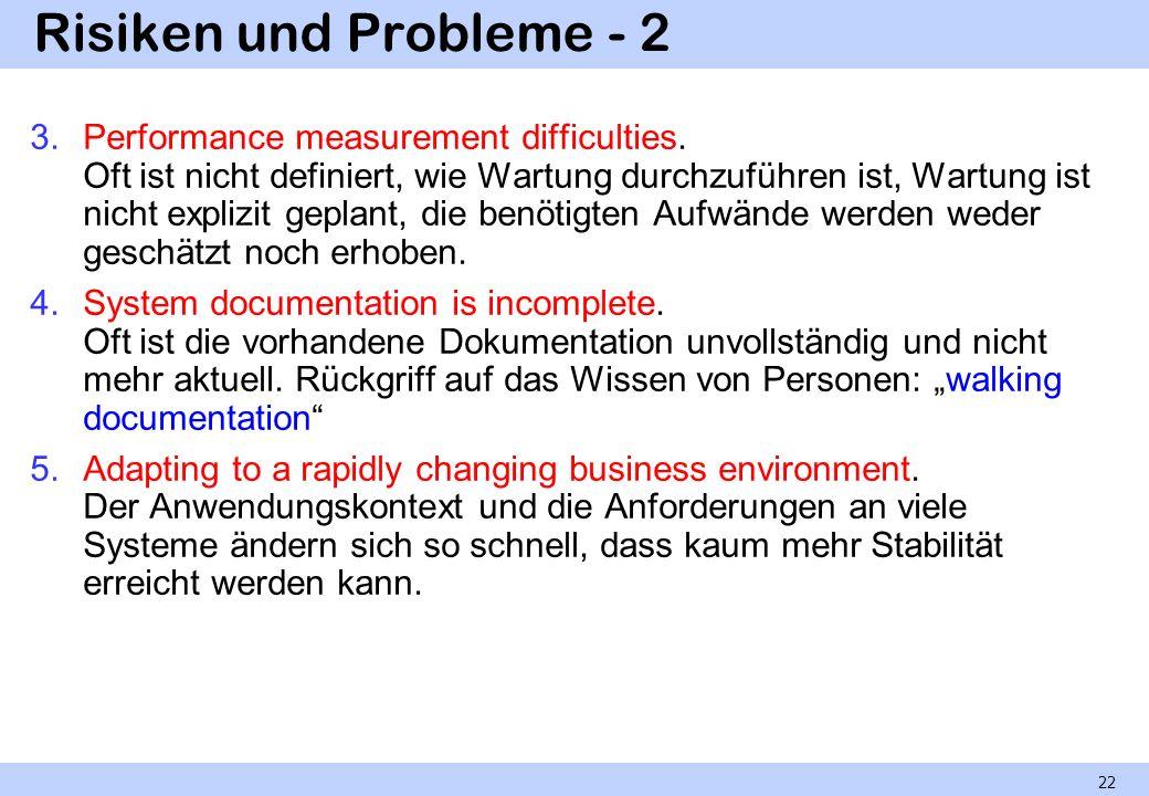 Risiken und Probleme - 2