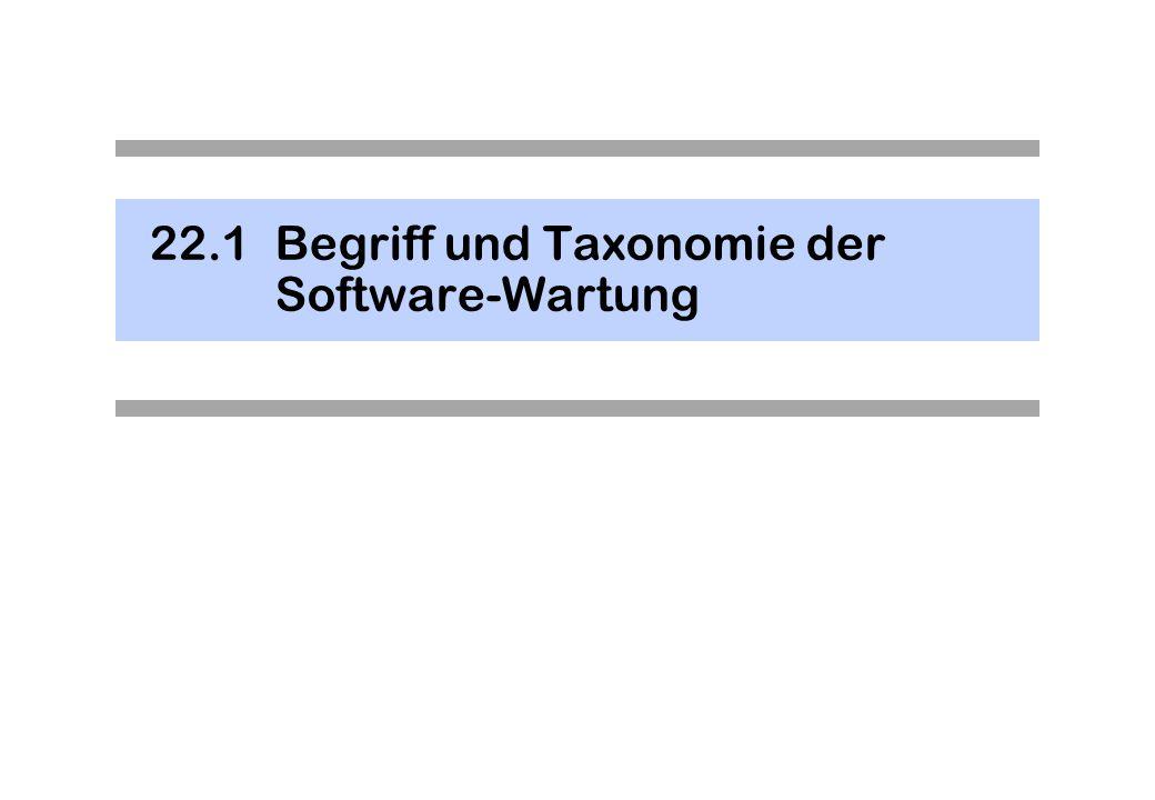22.1 Begriff und Taxonomie der Software-Wartung