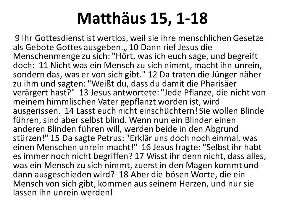 Matthäus 15, 1-18