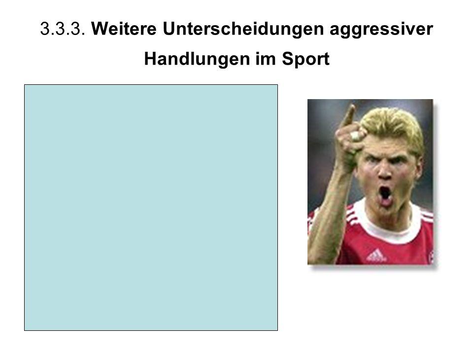 3.3.3. Weitere Unterscheidungen aggressiver Handlungen im Sport