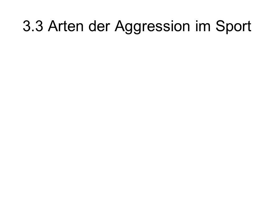 3.3 Arten der Aggression im Sport