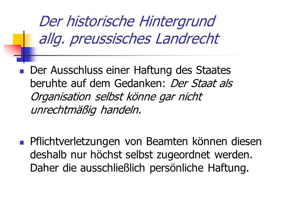 Der historische Hintergrund allg. preussisches Landrecht