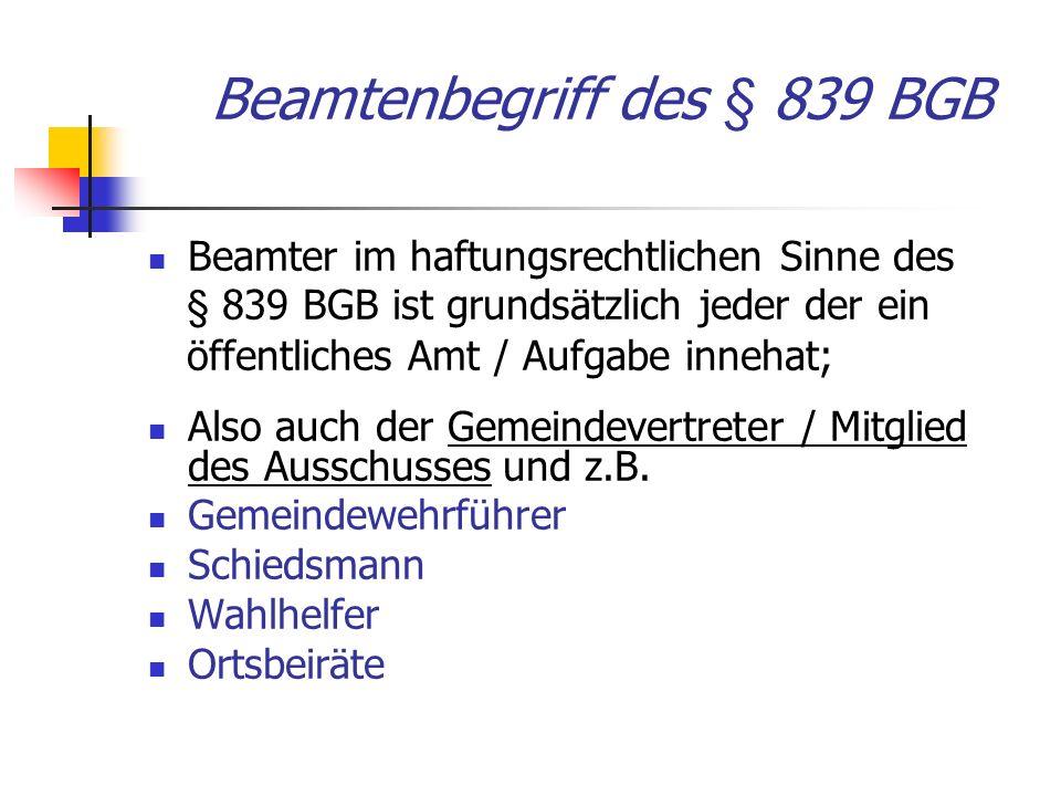Beamtenbegriff des § 839 BGB