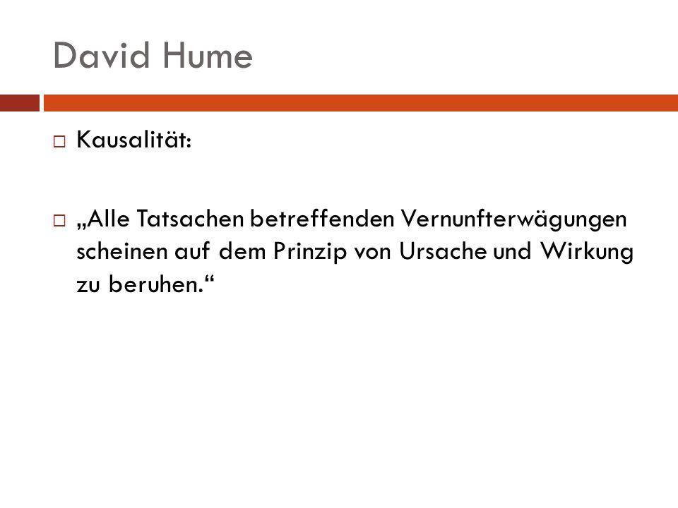 David Hume Kausalität: