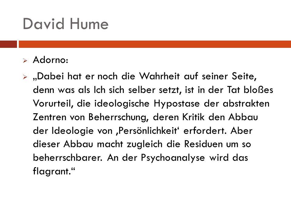 David Hume Adorno: