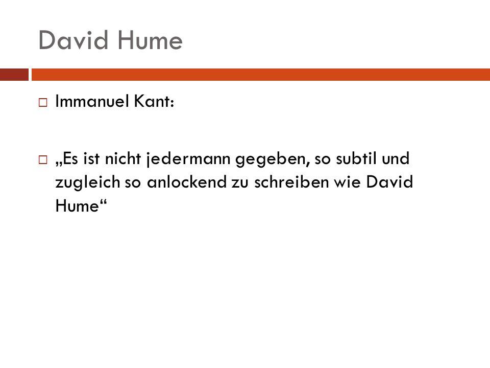 David Hume Immanuel Kant: