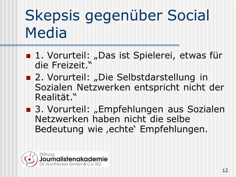 Skepsis gegenüber Social Media