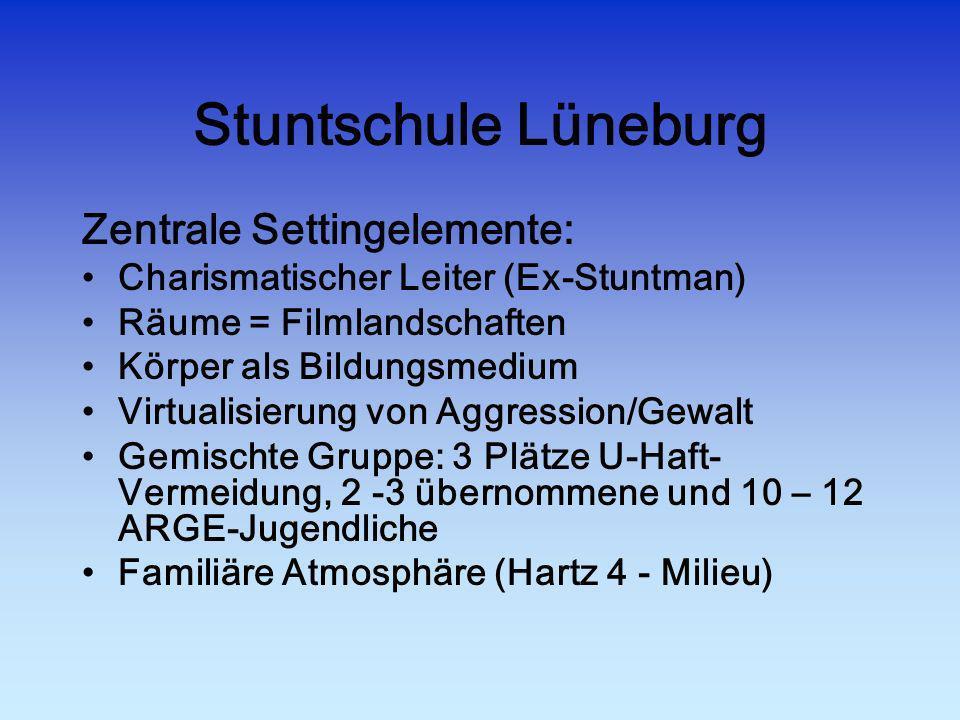 Stuntschule Lüneburg Zentrale Settingelemente: