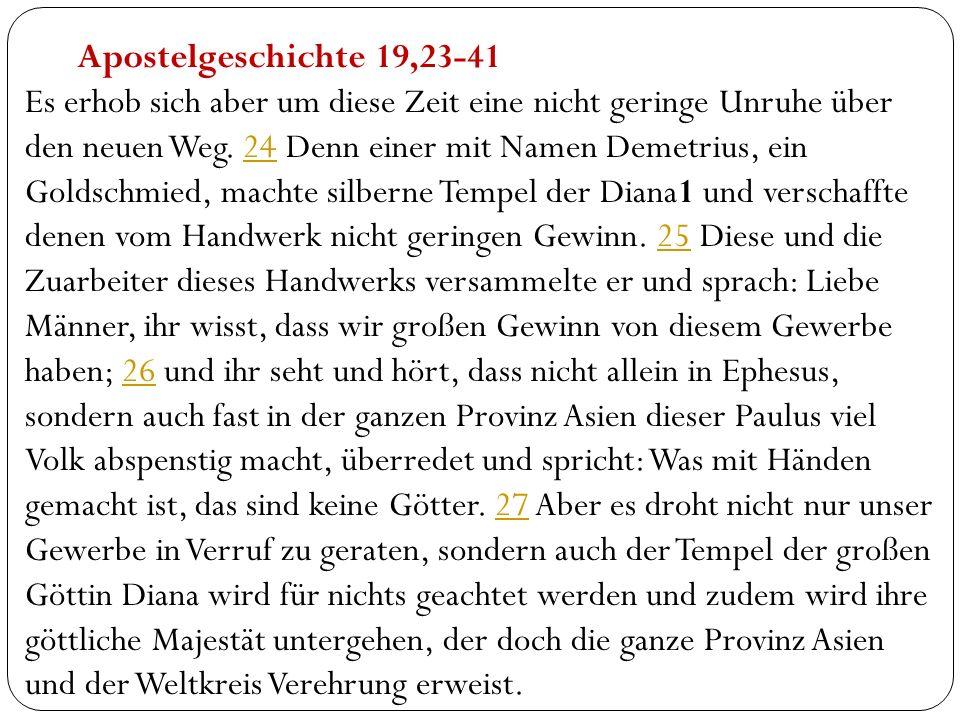 Apostelgeschichte 19,23-41