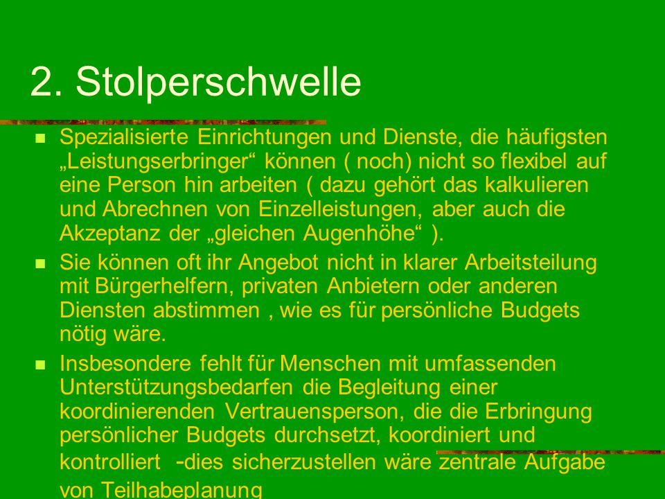 2. Stolperschwelle