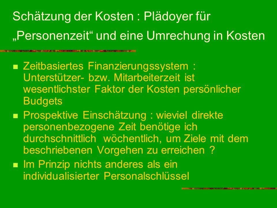 """Schätzung der Kosten : Plädoyer für """"Personenzeit und eine Umrechung in Kosten"""
