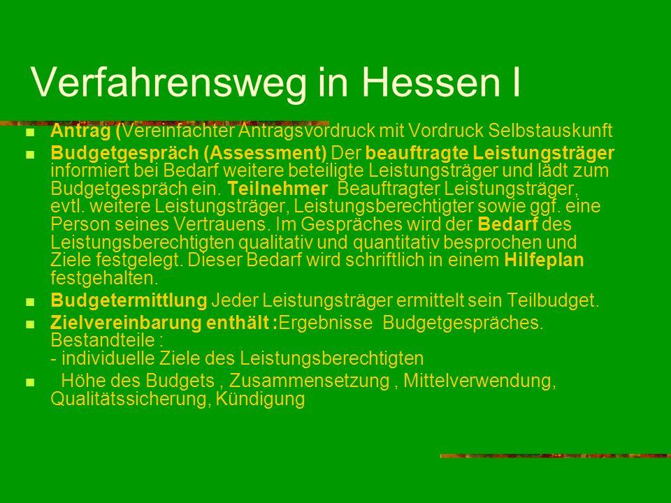 Verfahrensweg in Hessen I