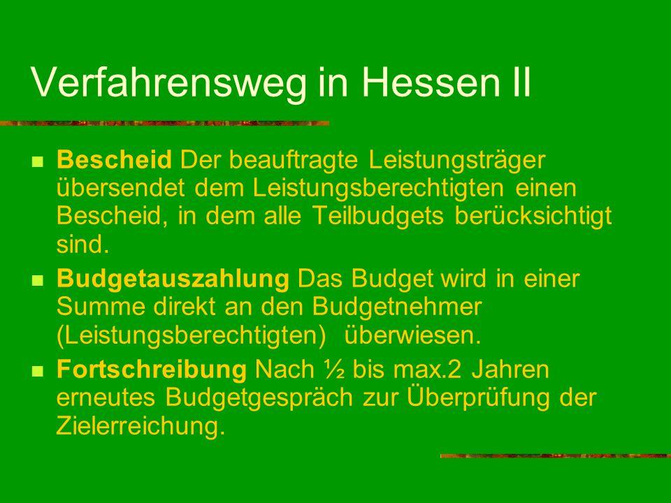 Verfahrensweg in Hessen II