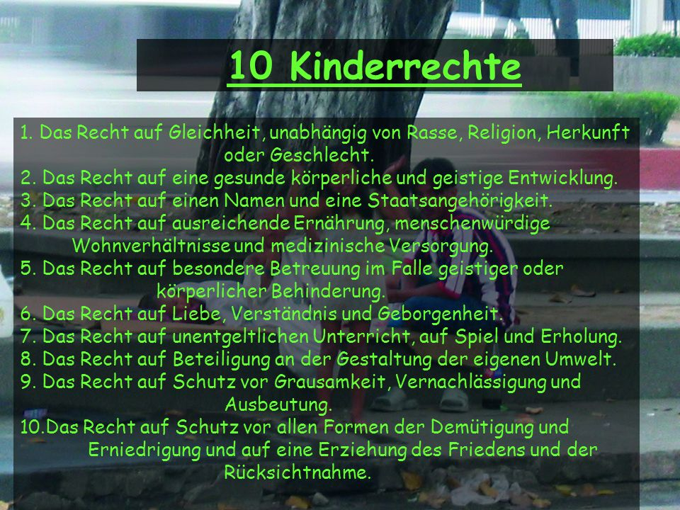 10 Kinderrechte