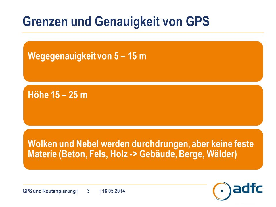 Outdoor-Navigation ist anders als Autonavigation (1)