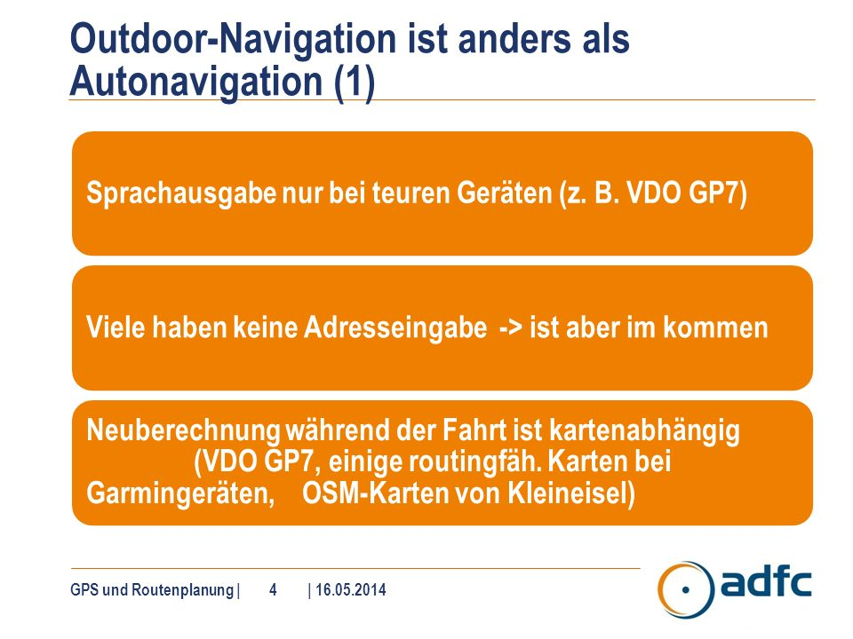 Outdoor-Navigation ist anders als Autonavigation (2)