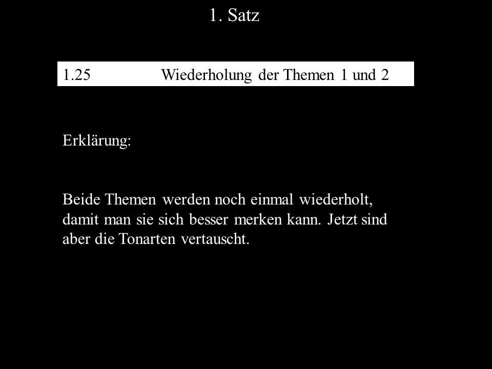 1. Satz 1.25 Wiederholung der Themen 1 und 2 Erklärung: