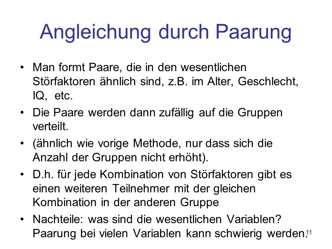 Angleichung durch Paarung
