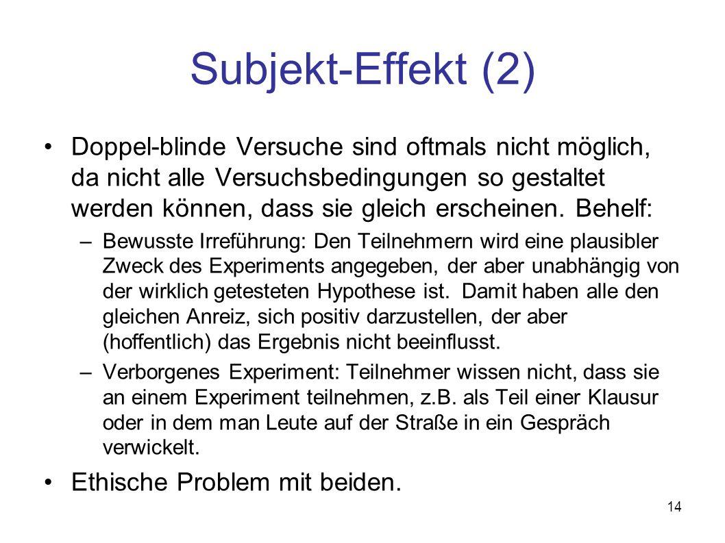 Subjekt-Effekt (2)