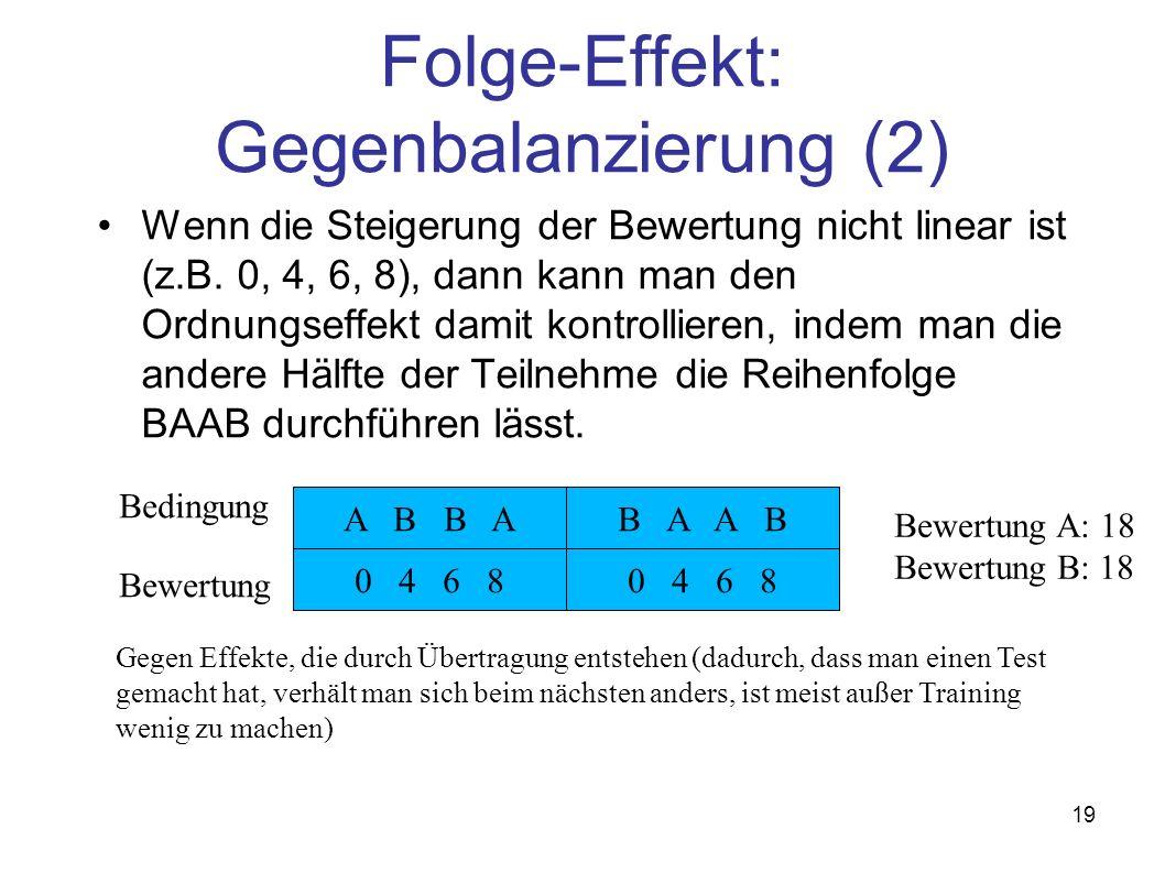 Folge-Effekt: Gegenbalanzierung (2)