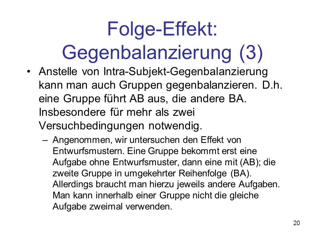 Folge-Effekt: Gegenbalanzierung (3)