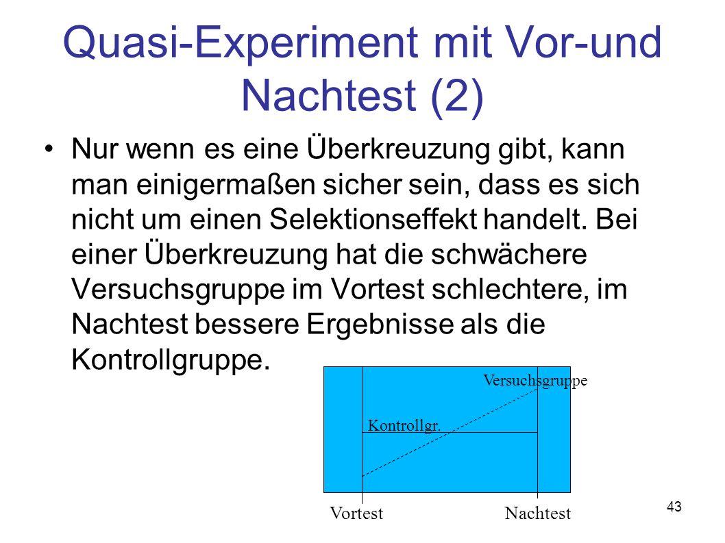 Quasi-Experiment mit Vor-und Nachtest (2)