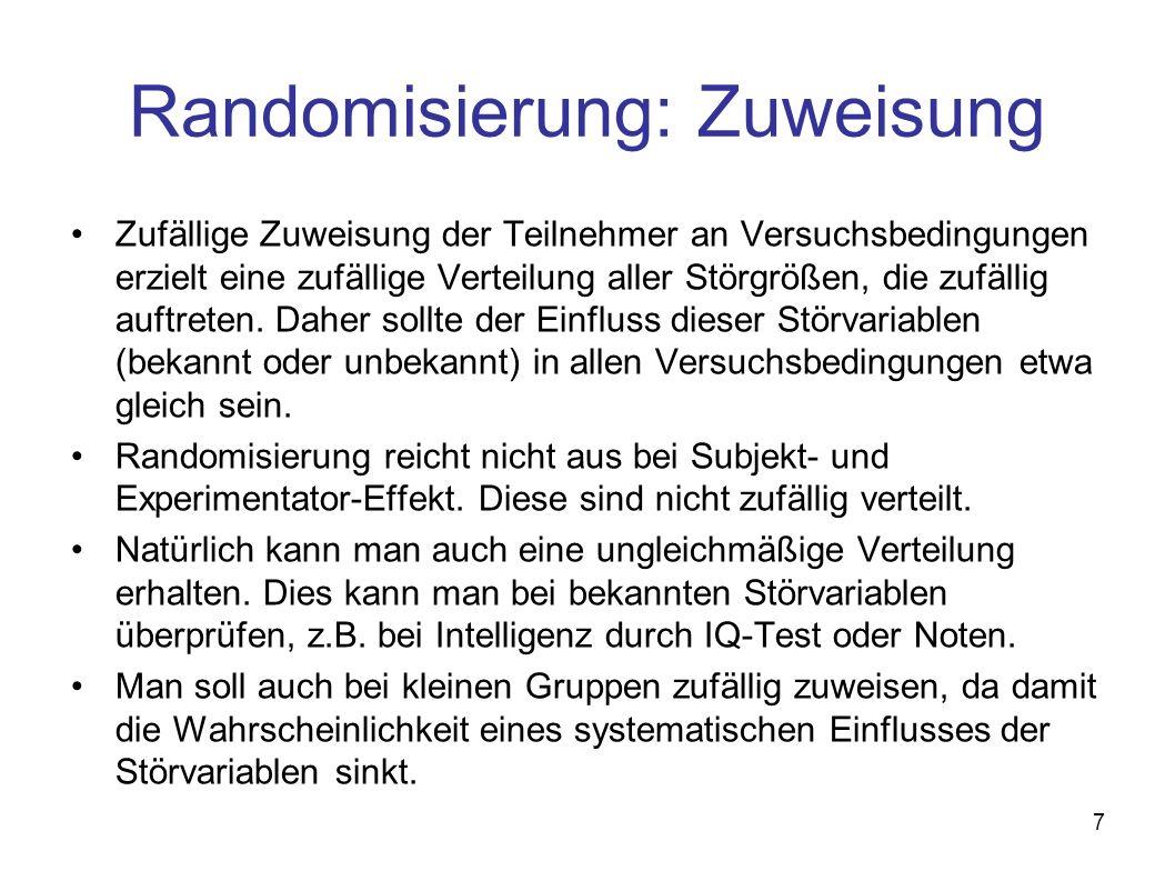 Randomisierung: Zuweisung