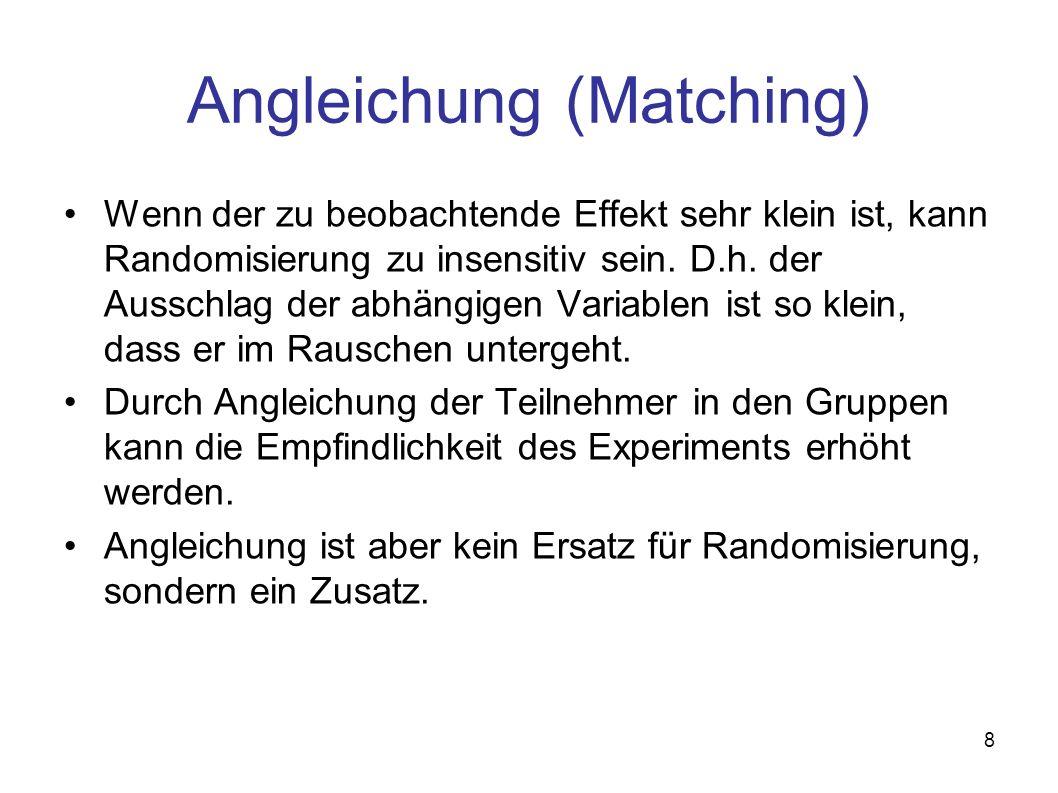 Angleichung (Matching)
