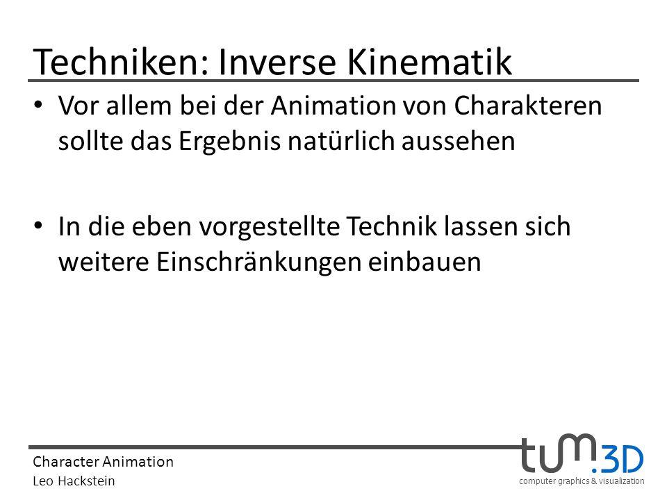Techniken: Inverse Kinematik