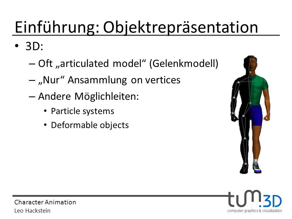 Einführung: Objektrepräsentation