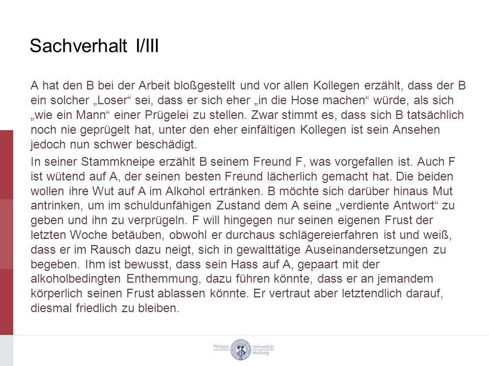 Sachverhalt I/III