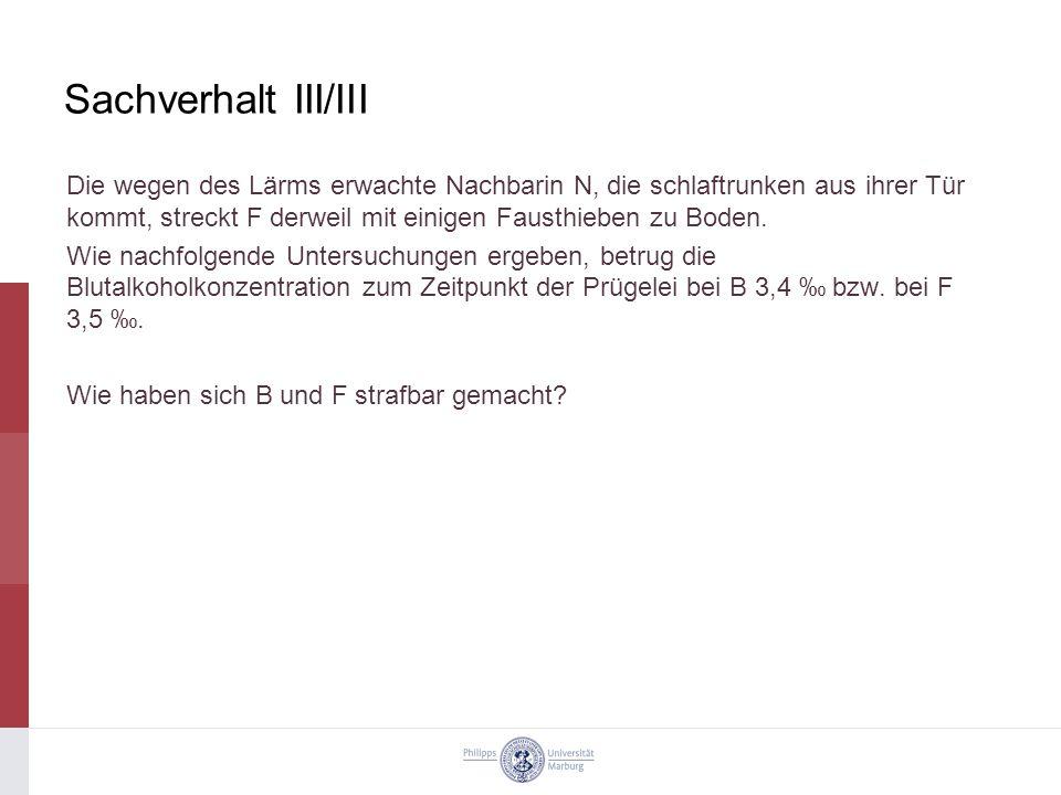Sachverhalt III/III