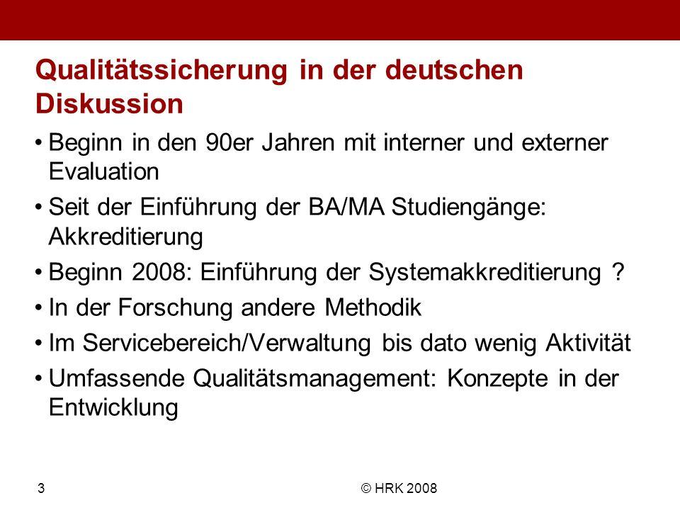 Qualitätssicherung in der deutschen Diskussion