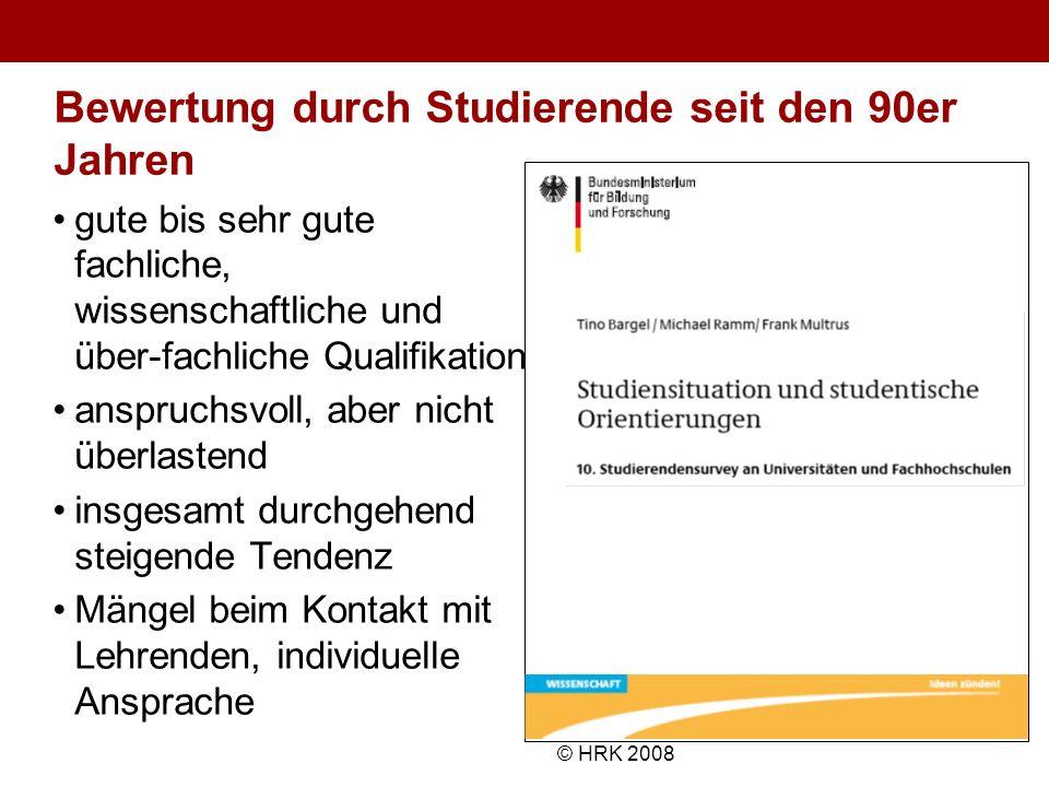 Bewertung durch Studierende seit den 90er Jahren