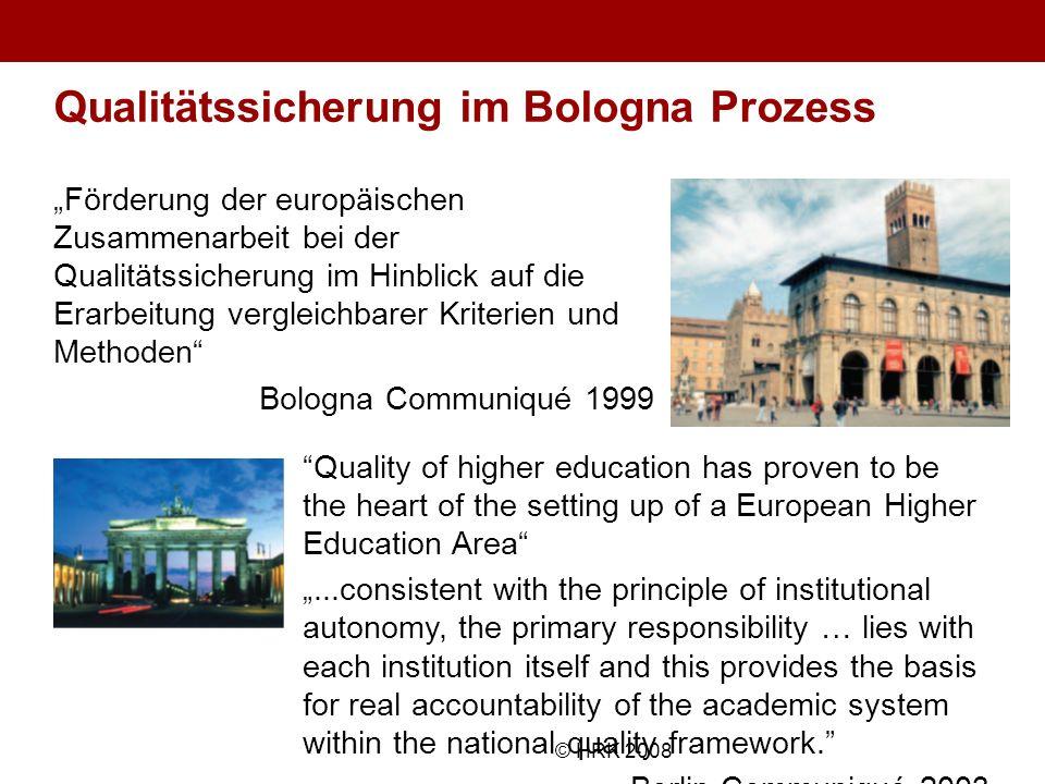 Qualitätssicherung im Bologna Prozess