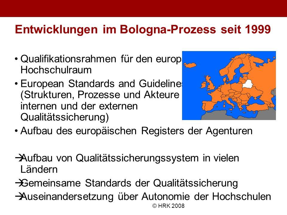 Entwicklungen im Bologna-Prozess seit 1999