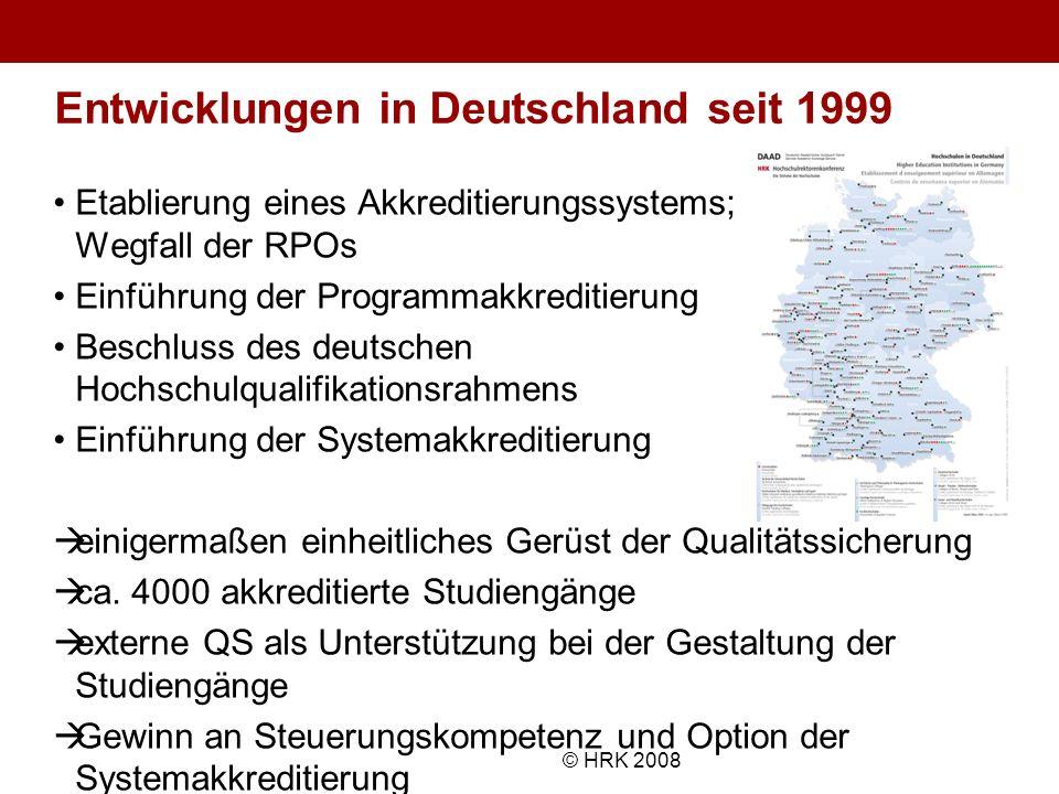 Entwicklungen in Deutschland seit 1999