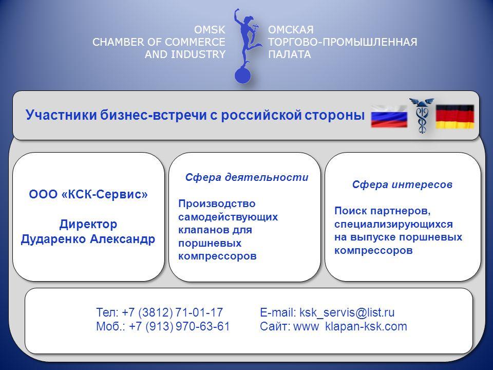 Участники бизнес-встречи с российской стороны