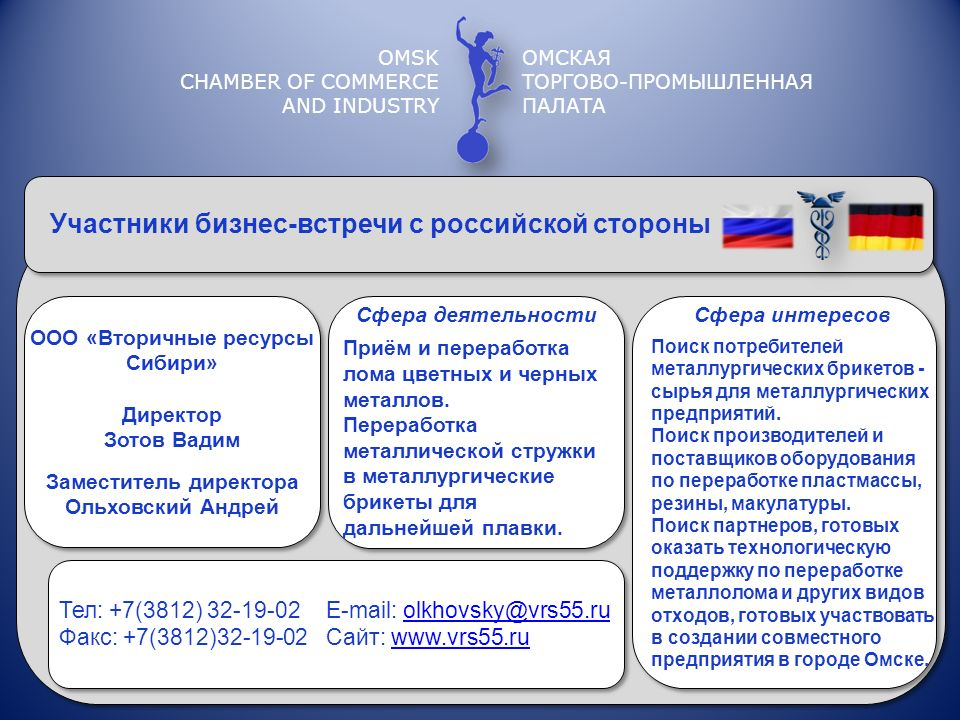 ООО «Вторичные ресурсы Сибири» Заместитель директора
