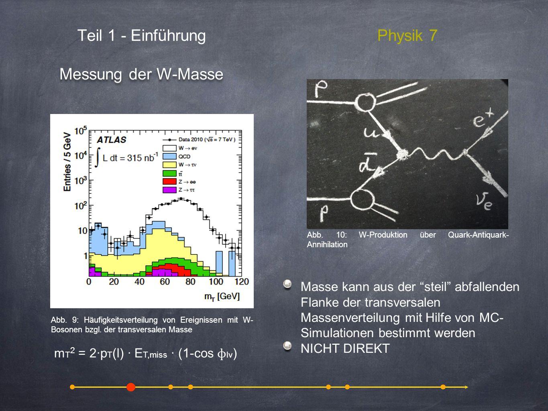 Teil 1 - Einführung Physik 7 Messung der W-Masse