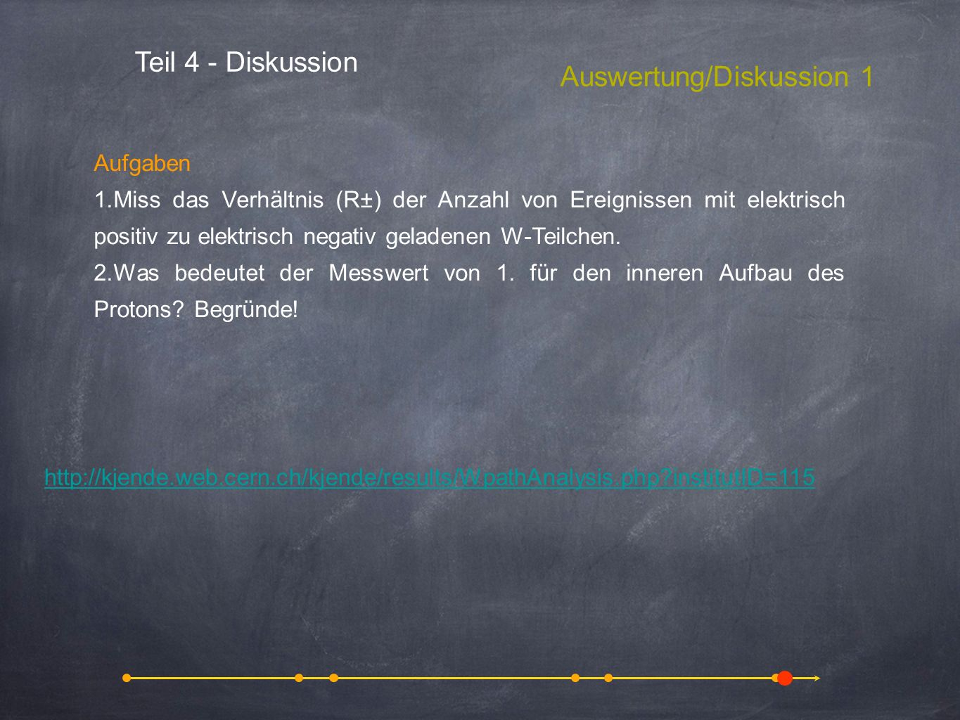 Auswertung/Diskussion 1