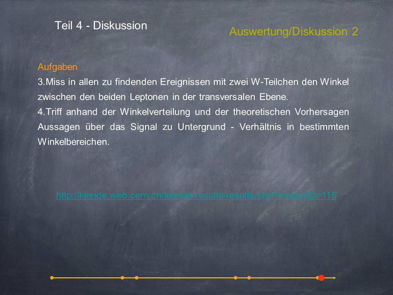 Auswertung/Diskussion 2