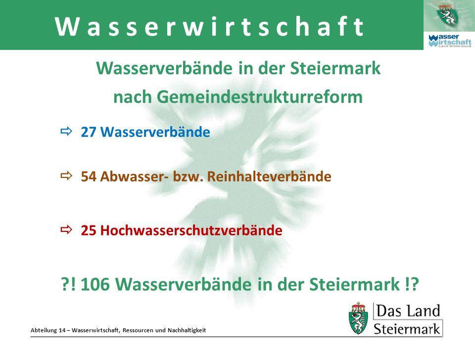 Wasserverbände in der Steiermark nach Gemeindestrukturreform