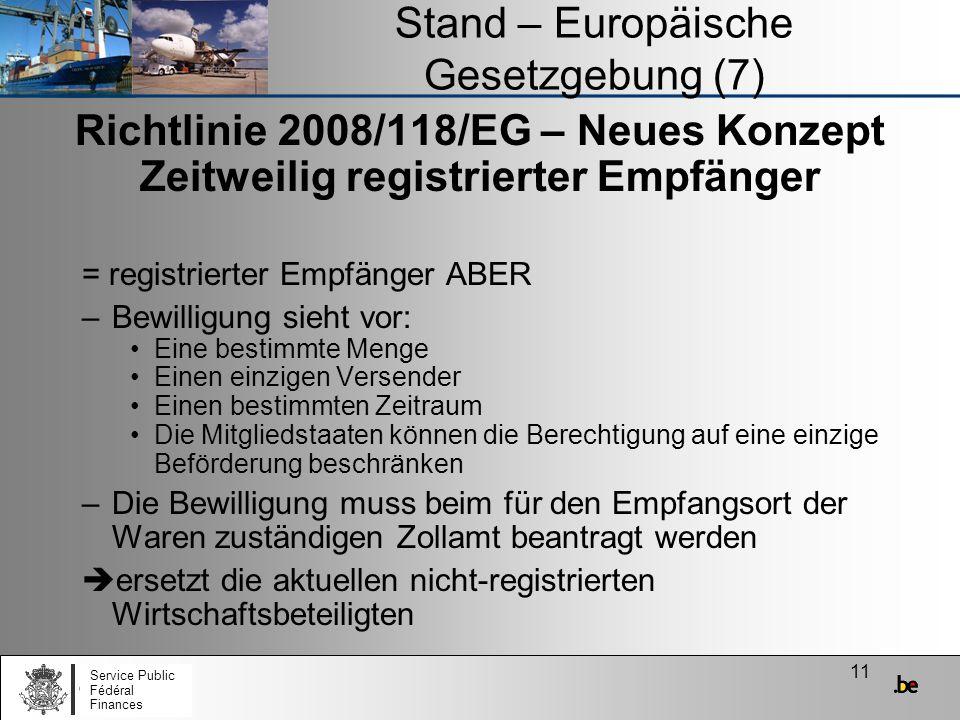Stand – Europäische Gesetzgebung (7)