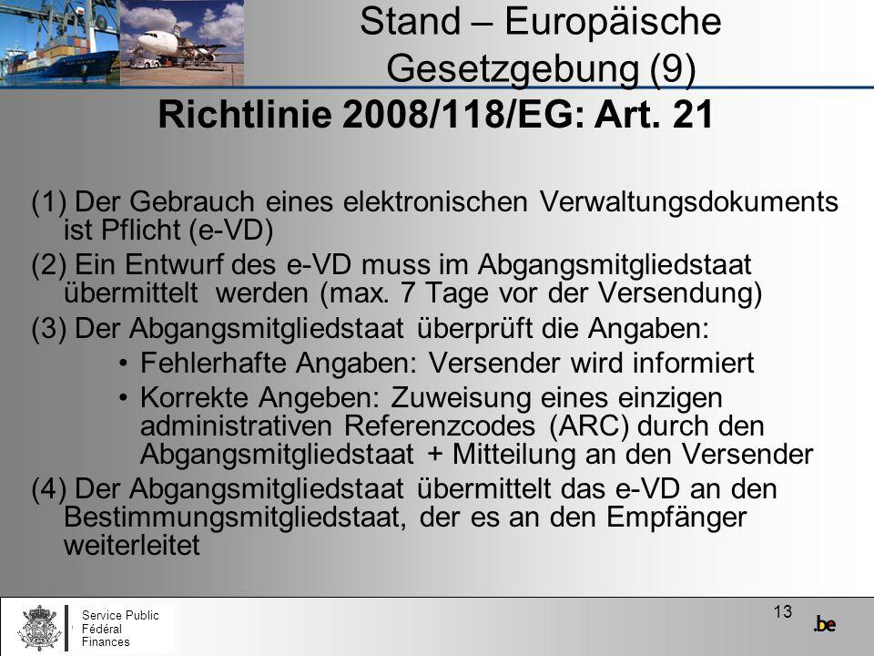 Stand – Europäische Gesetzgebung (9)