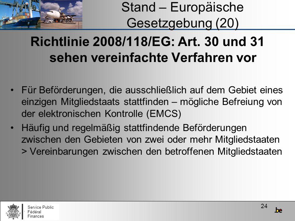 Stand – Europäische Gesetzgebung (20)