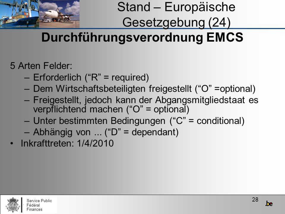 Stand – Europäische Gesetzgebung (24)