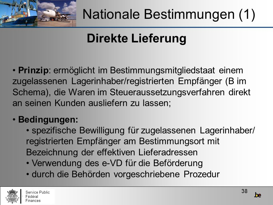 Nationale Bestimmungen (1)